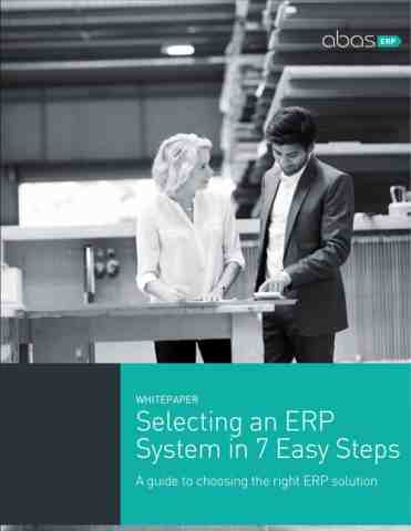 Selecting an ERP system in 7 easy steps cover image